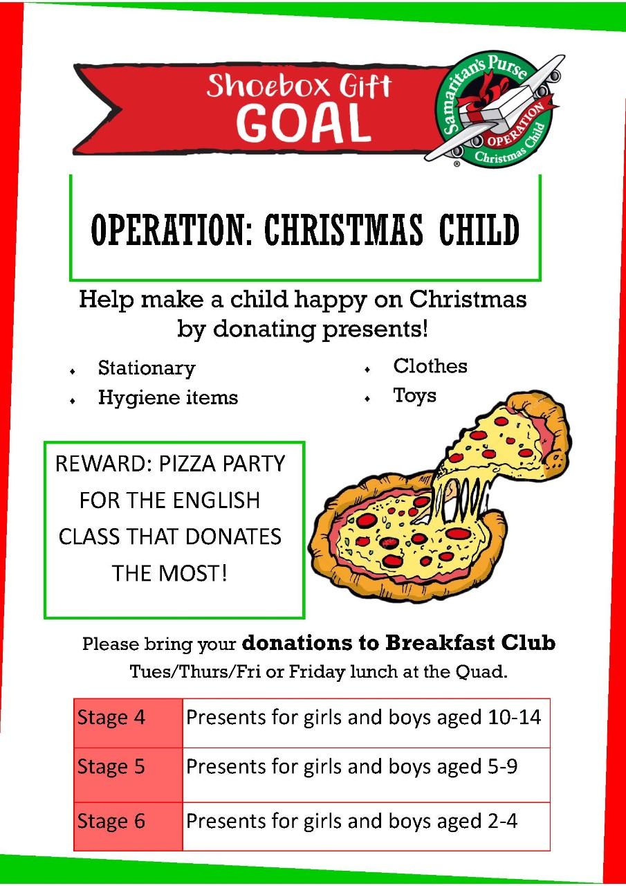 Operation Christmas Child 2019 Dates.Operation Christmas Child Sarah Redfern High School